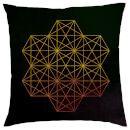 Prezzi e Sconti: #Geometric star print cushion black faux  ad Euro 28.55 in #Own brand #Garden and homeware homeware