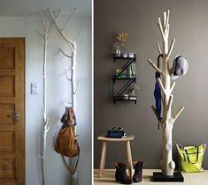 DIY branches coat rack
