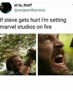 YEAH ! TOTALLY ! I'M FUCKING AGREE WITH THE PERSON WHO WROTE THAT ! DONT YOU DARE TO HURT MY PRECIOUS STEVE YOU CRAP THANOS !