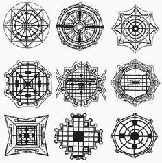 The Ideal City / Renaissance ideal cities inspired by Vitruvius (15th-16th c.) 1. Filarete, 2. Fra Giocondo, 3. Girolamo Maggi, 4. Giorgio Vasari, 5. Antonio Lupicini, 6. Daniele Barbaro, 7. Pietro Cattaneo, 8/9 di Giorgio Martini.