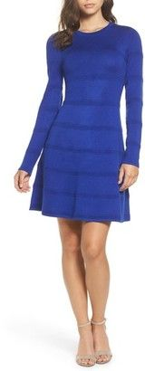 Shop Now - >  https://api.shopstyle.com/action/apiVisitRetailer?id=682707113&pid=uid6996-25233114-59 Women's Eliza J A-Line Sweater Dress  ...