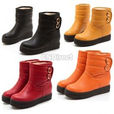 Girl Winter Warm Flat Heel Snow Boots