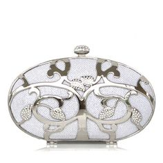 Fashional Stainless Steel With Rhinestone Clutches (012016333)