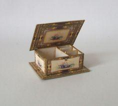 Dollhouse miniature handmade Victoriana Jewellery box