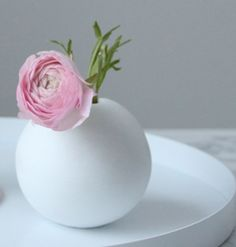 COOEE Ball Vase 10cm, Hvit
