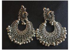 Indian Jewelry Earrings, Fancy Jewellery, Silver Jewellery Indian, Tribal Earrings, Stylish Jewelry, Fashion Earrings, Silver Earrings, Fashion Jewelry, Silver Jewelry