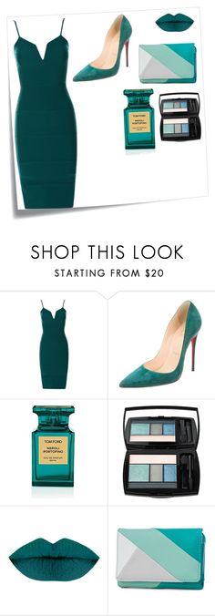 """""""Teal"""" by perezbarrios on Polyvore featuring Post-It, Christian Louboutin, Tom Ford, Lancôme and New Directions"""