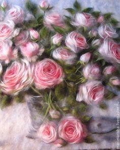 Купить или заказать Картина из шерсти 'Розовый букет' в интернет-магазине на Ярмарке Мастеров. Картины шерстью очень популярны. И не зря! Они вносят в ваш дом уют, тепло и хорошее настроение! Это и прекрасный подарок, и элемент вашего интерьера, который украсит любое помещение: гостиную, кухню, спальню, прихожую! Актуально и для офисов. Розовый букет. Отличный подарок на свадьбу, юбилей, день рождения, новоселье. Точное копирование невозможно, каждая картина индивидуальна и не является…