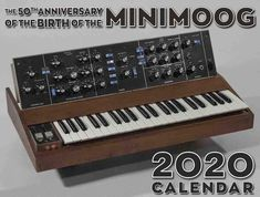 SPECIAL SALE: ORIGINALLY $20 Now: $10 (Less than 20 left!) Just in time for the turn of a new decade, we are excited to release our 2020 calendar, The 50th Anniversary of the Birth of the Minimoog! This high-quality calendar traces this synthesizer's history from the seminal creation of the prototypes through its eventual release in 1970 and beyond, featuring rare images of the instrument including those with pioneering artists Sun Ra, Dick Hyman, and Mother Mallard's Portable Masterpiece.