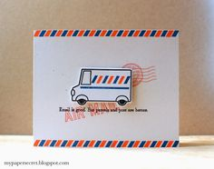 Airmail Card by Cristina Kowalczyk for Papertrey Ink (February 2014)