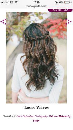 Bridesmaid hair. Down
