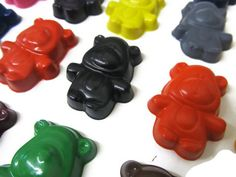 Teddy bear crayons set of 20 - party favors $12.00