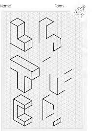 Resultado de imagen para isometric drawing exercises for kids