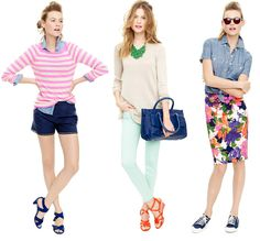 CENTER!!! Nothing says Spring 2012 quite like brights, stripes + floral prints.