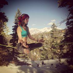 Slackline yoga in the Colorado, San Juan mountain range :)