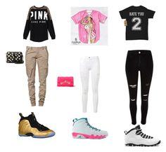 """lazy"" by boydcolby on Polyvore featuring NIKE, CREAM, Victoria's Secret PINK, Nicki Minaj, Frame Denim and Betsey Johnson"