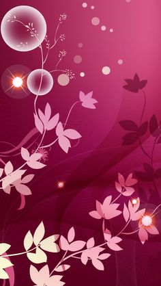 Wallpaper iPhone 5 beautiful pink purlple flowers http://htctokok-infinity.hu