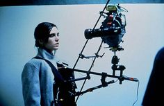 Behind the scenes / Requiem for a Dream — Jennifer Connelly strapped into a SnorriCam.