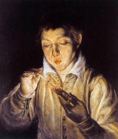 El soplón (El Greco, ca. 1571)
