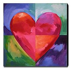 HERE IS MY HEART CANVAS PAINTING