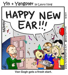 Image Result For Happy New Ear Van Gogh Year Cartoon