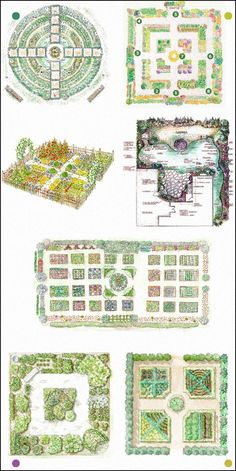 Kitchen garden designs - my favorites are the Kitchen Garden Design, the Kitchen Gardening Tips, Year Round Garden Design (at least I think so; I didnt know all the formal names listed), and the Eye Catching Kitchen Garden Plan. Potager Bio, Potager Garden, Veg Garden, Edible Garden, Easy Garden, Garden Beds, Herb Garden Design, Vegetable Garden Design, Farm Gardens