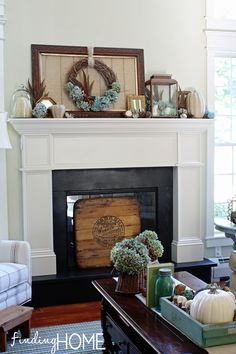 Fall Mantel Decorating - Step by Step Tips - Finding Home