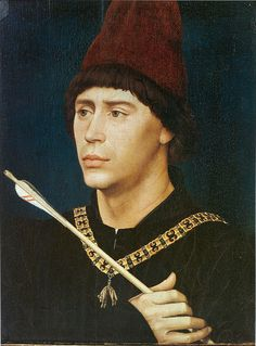 Portrait of Anthony of Burgundy  Rogier van der Weyden   about 1460