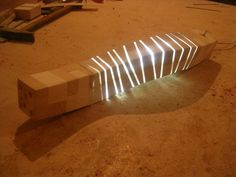 This bench is like a light-up caterpillar
