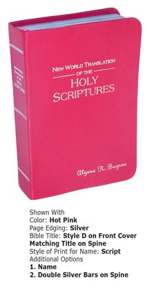 New Smooth Leather Cover on your Standard Size New World Translation Bible