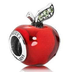 PANDORA Disney Snow White's Apple Charm - ALREADY HAVE this one:) got it in Disney World! Favorite ride in the magic kingdom was the Snow White mine train, and the Apple is the prettiest pop of color bead!:)