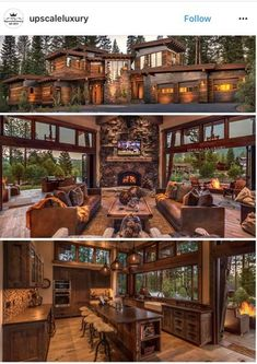 Rustic Design Ideas | Pinterest | Log cabins, Cabin and Logs
