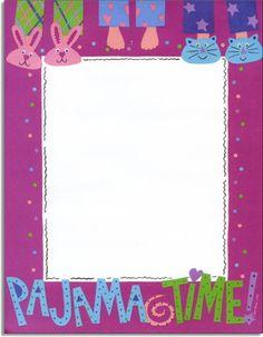 Pyjamas Themed A4 Page Borders SB5120 SparkleBox FLE