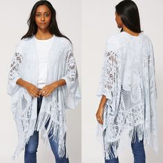 £16. Pale Baby Blue Loose Knit Batwing Cardigan. One size.  Key Features: - Loose Knit - Batwing Sleeve - Open Soft Knitted Cardigan - Bottom Fringe. #eyebrows #beautiful #fashion #beauty #foundation #nails #makeup #hair #mac #goals #want #facebook #outfitoftheday #chanel #pink #uk #lipstick #kyliejenner #girl #dress #shoes #benefit #cosmetics #fabsquad #outfit #ootd #lookbook #Natsboutique #onlineshop