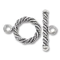 Toggle Clasps | Large Twisted Rope 17mm Sterling Silver