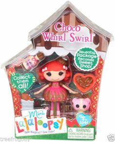 NEW Mini Lalaloopsy CHOCO WHIRL SWIRL #6 of Series 8 (Sweet Shoppe Series) NIP