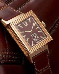 Jaeger LeCoultre Grande Reverso Ultra Thin 1931 Chocolate closeup