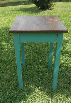 Handmade Wood End Table End TableCottage /  Beach by AtticJoys1, $60.00