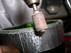 How to finish cut wine bottle edges