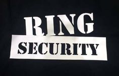 Ring Security fun best man black shirt for Bachelor Party. Make your engagement and wedding custom with Bling N Ink.