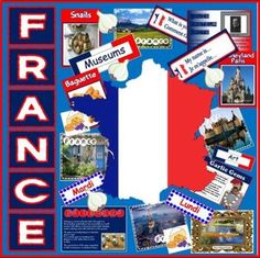 Included are the following resources: Interactive White Board Presentation - covering all the key facts about the country - such as history, geography, language, landmarks, tourism etc, several photo packs of French scenes, the Alps, homes etc, 100 A5 French flashcards with pictures, 8 inventions posters showing French inventions, European flags A4, days /