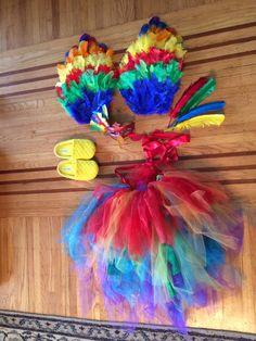 DIY Macaw Parrot Costume!!