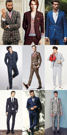 Men's Spring Suiting Guide: The Prints & Patterns Statement Suit Lookbook Inspiration