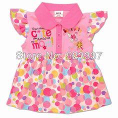 $13.69 (Buy here: http://appdeal.ru/716g ) evening dress for baby girls children clothing girls dress lovely polka dot flowers embroidery sleeveless dress fashion H3625# for just $13.69