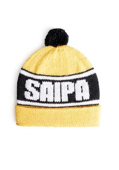 Saipa-fanipipo, neulo pipo suosikkijoukkueesi väreissä ja joukkueen nimellä, ohje: SK 9/14. Knitted Hats, Beanie, Knitting, Fashion, Knit Hats, Moda, Tricot, Fashion Styles, Knit Caps