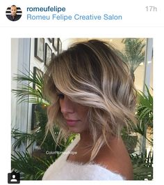 Ombré balayage short hair
