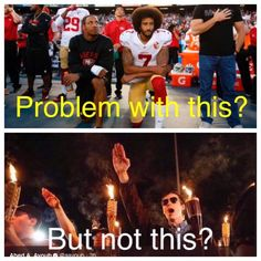 I personally think that kneeling is fine. It shows respect. But the bottom picture disgusts me.