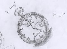 Pocket watch dedicated to the birth of a client's son
