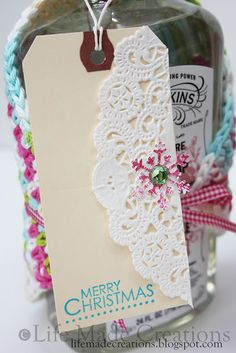 Doily accented tags