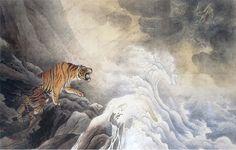 Hashimoto Gahō - Dragon & Tiger